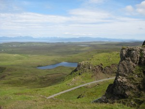 Trotternish from the top - the hairpin